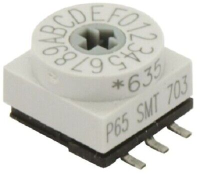 4x Apem DIP SWITCHES 150mA 24V DC 10-Way Surface Mount, Rotary Flush Actuator