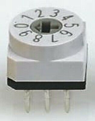 Apem DIP SWITCH 150mA 24V DC 4-Way Through Hole Mounting, Gold Plated Contacts