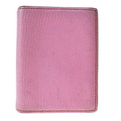 Authentic HERMES Logos Mini Agenda Day Planner Leather Pink France 03EX706