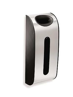 Wall Mount Grocery Bag Dispenser, Brushed Stainless Steel