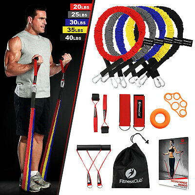 Exercise Elastic Resistance Bands Set 14 PCS Door Anchors Ankle With Handles