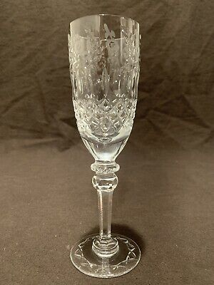 "Rogaska Crystal Gallia Champagne Flute Glass 8 1/4"" H Sold Individually UNSIGNED"