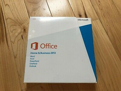 Microsoft Office 2013 Home and Business 1 User DVD & Key -Full Install - Windows