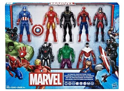 Marvel Avengers Hasbro Ultimate Protector Pack 8 Figures Gift Set