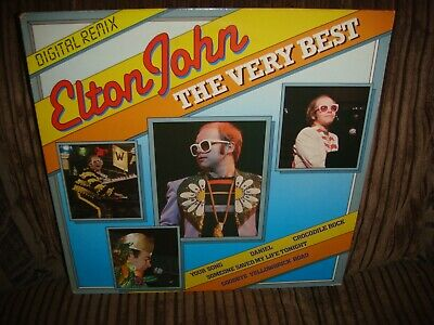 ELTON JOHN - THE VERY BEST GREATEST HITS - Vinyl LP RECORD - 1984 - BRLP14 - K43