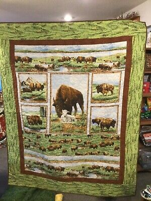 """Buffalo lap quilt,  54 by 66"""""""