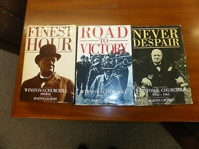 Finest Hour - Road To Victory - Never Despair - Churchill 1939 - 1965 - 3 Books