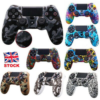 Top Silicone Case Skin Grip Cover For Sony PlayStation 4 PS4 Controller Slim Pro