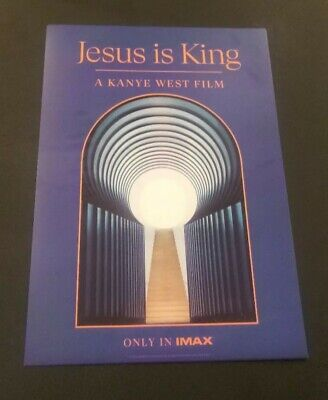 Limited Edition Poster from KANYE WEST JESUS IS KING Concert at The Forum