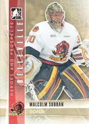 MALCOLM SUBBAN 2011/12 11/12 ITG HEROES and PROSPECTS card #20  BOSTON BRUINS