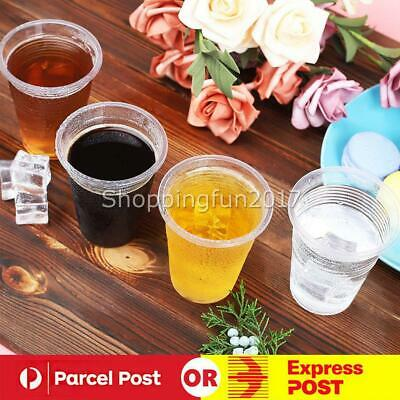 200ml Clear Disposable Plastic Cups Party Drinking Water Coffee Cup Reusable X