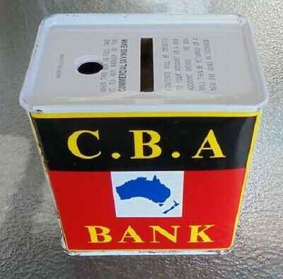 "VINTAGE 1960s ""CBA BANK"" COMMERCIAL BANK OF AUSTRALIA MONEY BOX"