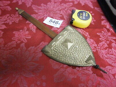 CLOCK PENDULUM Brass Shield Bob & Rod for a 8 Day wall German parts spares 546A