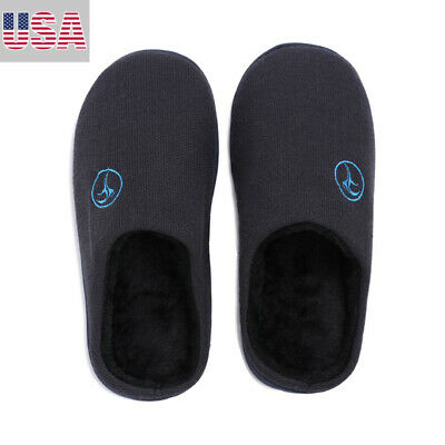 Men's Memory Foam Slippers Wool-Like Plush House Shoes Anti-Skid & Breathable US