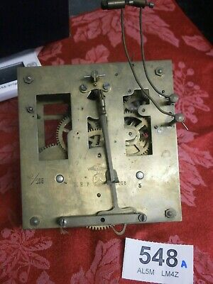 CLOCK MOVEMENT Bim Bam D.R,P, 8 Day wall parts spares sound pendulum leader 548A
