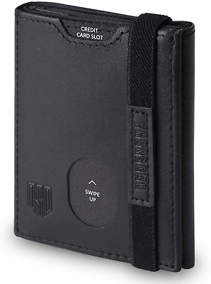 Mens Wallets Leather with Coin Pocket, Slim Wallet RFID Blocking,Small Trifold,