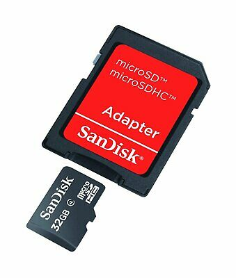 SanDisk 32GB Class 4 Micro SD SDHC MicroSD Memory Card +adapter