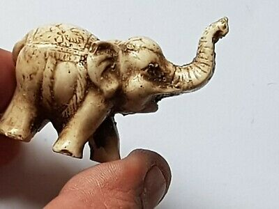 Exeptional Extremely Rare Ancient Stone Statue / Elephant 32,7 Gr 59 Mm