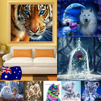 5D Diamond Painting Full Drill DIY Pictures Arts Kit Mural Home XMAS Decor Gifts
