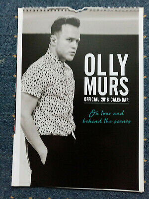 Olly Murs official 2018 Calendar perfect condition Gay interest