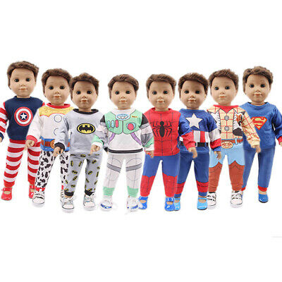 "For 18"" Inch American Girl Doll Accessories Boy Cosplay Superhero Series Clothes"