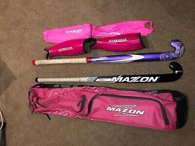 Hockey Stick Mazon Fusion 1000 hockey stick, Haze hockey stick, shin gaurds