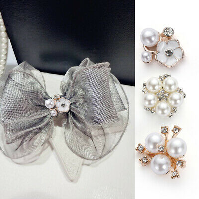 Accessories Scrapbooking DIY Clothing Flower Rhinestone pearls sewing button