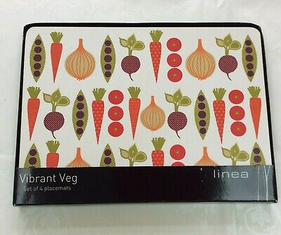 4 Placemats Vegetables Bright Vibrant  House of Fraser Rectangle Linea
