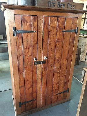 Rare Vintage Rare Victorian Railways Cabinet - Use As Wardrobe