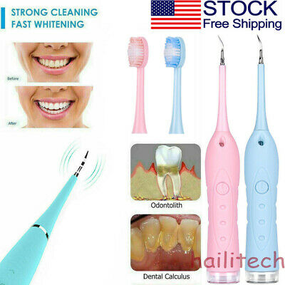 Electric Ultrasonic Sonic Dental Scaler Tooth Calculus Remove Teeth Stains Clean