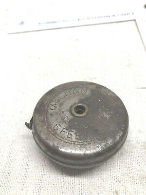 Vintage Walsco Mechanic's Pal Tape Measure 6' Retractable Metal Rule Made in USA
