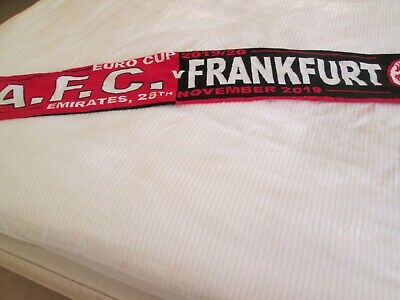 Arsenal  v Eintracht Frankfurt Match Day scarf Europa League 28/11/19