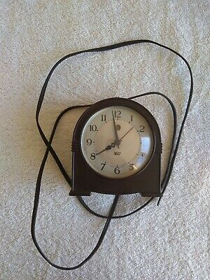 smiths sectric clock bakelite art deco electric