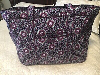 New Vera Bradley Get Carried Away XL Tote travel BAG in Lilac Medallion $128