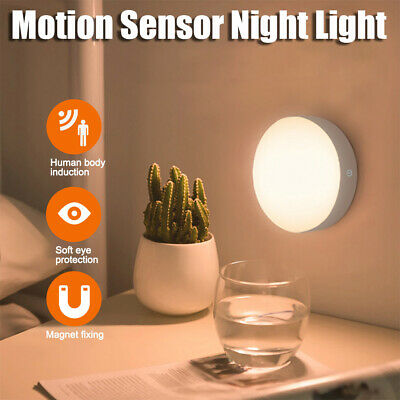 Wireless Recharge PIR Motion Sensor 6LED Night Light Lamp Wall Wardrobe Dimmable