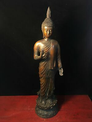 Chinese Ming xuande marked old bronze Buddhism Shakya Mani statue Sculpture