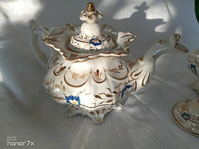Antique 19th century early english china Georgian? teapot a/f see pic