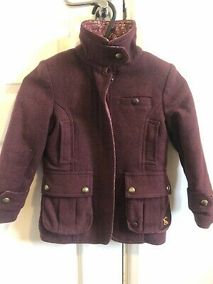 JOULES Girls Tweed Field Coat Country Equestrian Jacket AGE 3