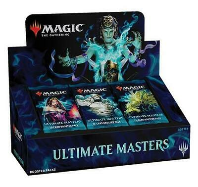 Ultimate Masters Booster Box MTG Magic New Factory Sealed W/Box Topper