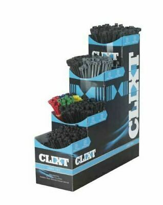 Brand New Clixt Assorted Cable Tie Dispenser Box 1000 Assorted Ties High Quality