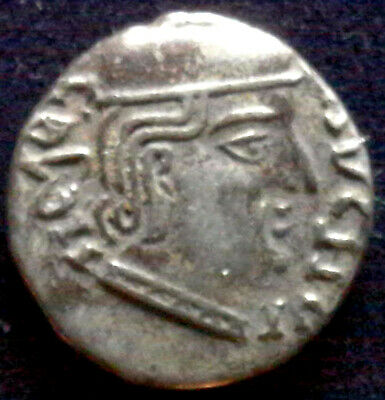 ANCIENT INDIA, Western Satraps, Rudresena I, 200-222 AD, silver drachm bust/hill