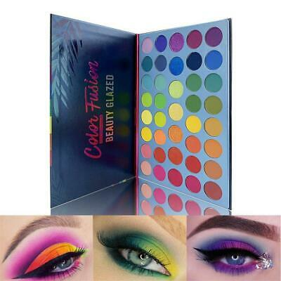 Waterproof Shimmer Shining Neon Eyeshadow Palette Matte Mineral Eye Makeup