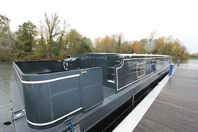 New 60 x 12ft6 painted eurocruiser sailaway houseboat liveaboard widebeam