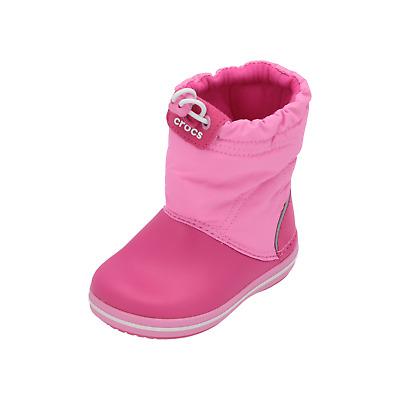 Crocs Crocband LodgePoint Boot K girls Boots Pink Winter Booties Lace Shoes