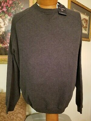 NWT Oliver Harris Golf LS Long Sleeve Charcoal Gray Sweat Shirt Mens L Large