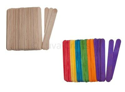 Jumbo Large Wooden Lolly Sticks Natural Coloured Ice Lollipop Crafts Art