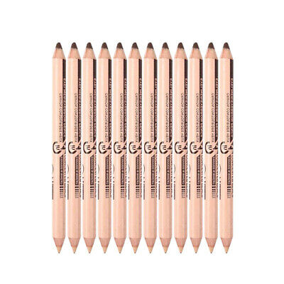 Menow 10Pcs/Lot Double-Ended Waterproof Long Lasting Eyebrow Pencil Cosmeti A3R9