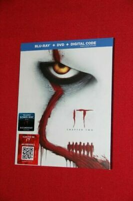 IT Chapter Two Blu-Ray + DVD + Digital Code BRAND NEW