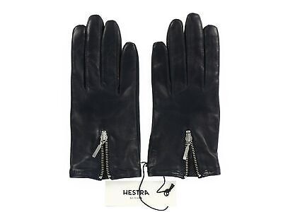 Hestra 168157 Womens Cara Soft Leather Dress Gloves Dark Navy Size 6.5