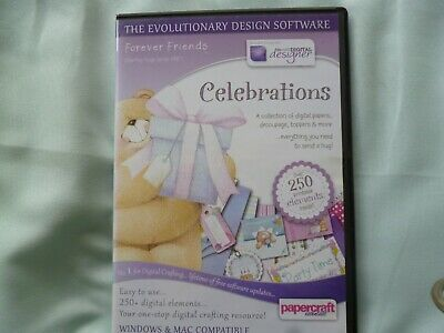Docrafts forever friends Celebrations Papercrafting CD